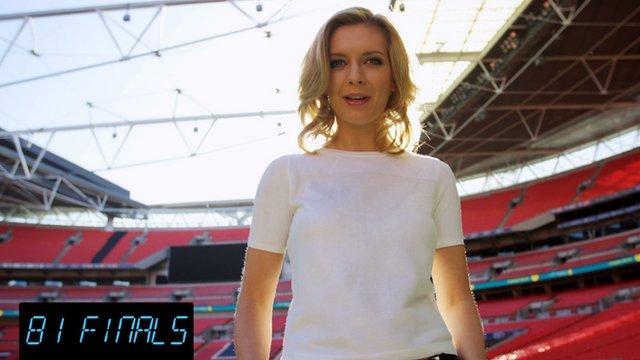 Rachel Riley at Wembley Stadium