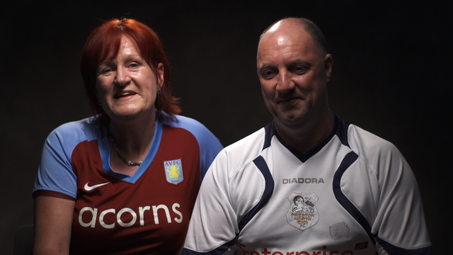 Aston Villa fans sing ahead of the FA Cup final