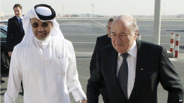 Sepp Blatter and Mohammed bin Hammam
