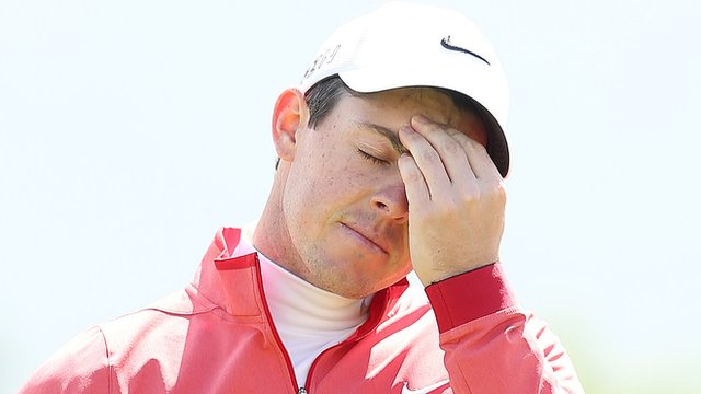Rory McIlroy endured a disappointing first round at the Irish Open