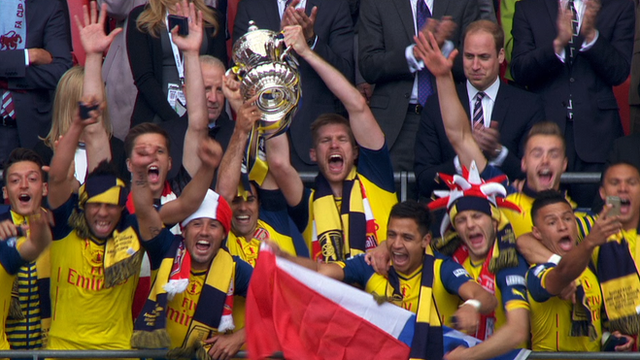 Arsenal lift FA Cup for a record twelfth time