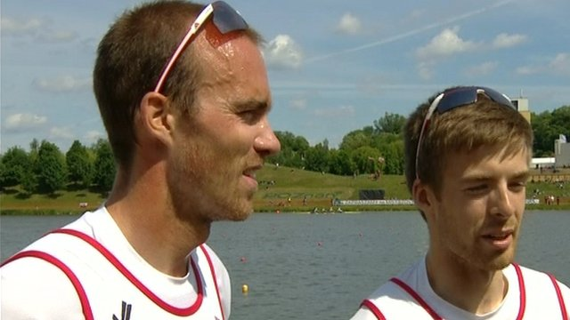 Coleraine pair Peter Chambers and Joel Cassells won lightweight pairs gold at the European Championships in Poznan on Sunday