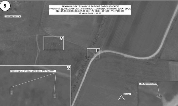 satellite image from Russian defence ministry website