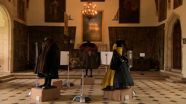 Wolf Hall costumes at Berkeley Castle, Gloucestershire