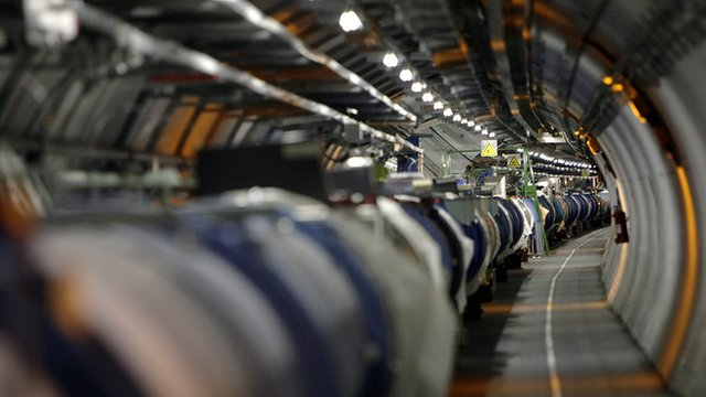 A view of the Large Hadron Collider in its tunnel at Cern, near Geneva, 31 May 2007