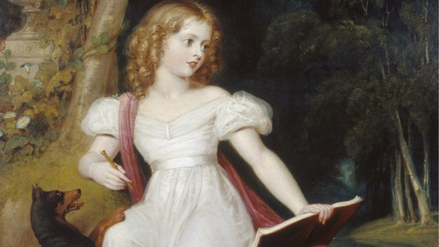A painting of Queen Victoria as a little girl