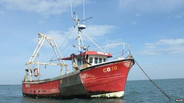 Gareth Jones' scallop dredge