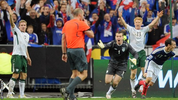 Ireland v France in 2009