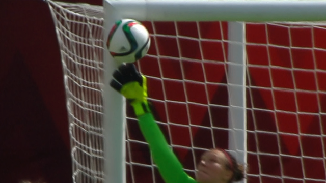 Women's World Cup: China free-kick hits both Canada posts