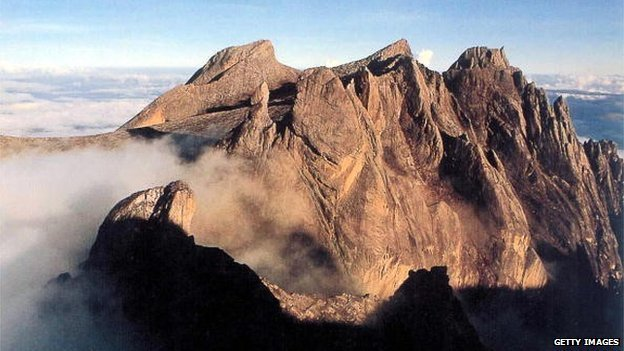 This undated photo shows Mount Kinabalu, South East Asia's highest peak, in East Malaysia's state of Sabah