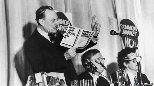 Enoch Powell speaking on the European Common Market Referendum 1975