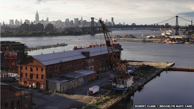 Brooklyn Navy Yard view into Manhattan
