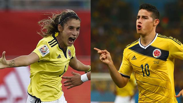 Daniela Montoya, James Rodriguez