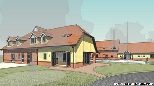 An artists' impression of how the new hospice in Maidenhead will look