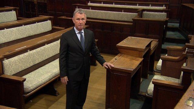 Nigel Evans in court scene