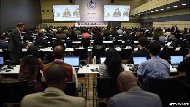 Delegates attend the United Nations Framework Convention on Climate Change (UNFCCC) in Bonn on 1 June