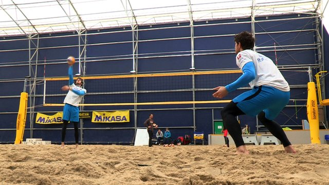 GB beach volleyball pair Chris Gregory and Jake Sheaf