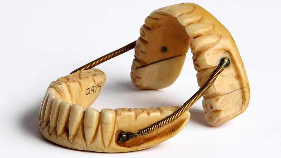 Ivory dentures