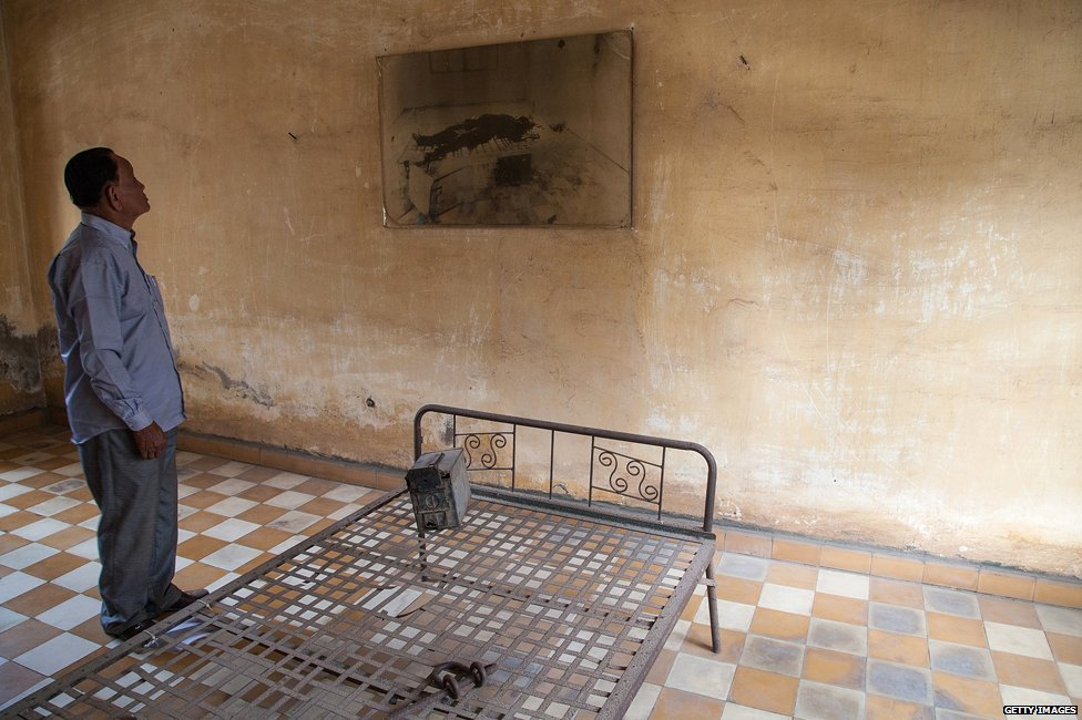 Cell at Tuol Sleng
