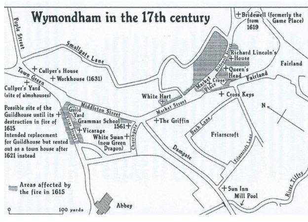 Map of Wymondham