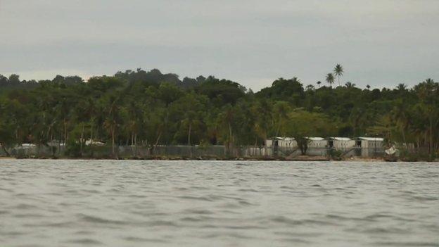 View of Manus Island camp (June 2015)