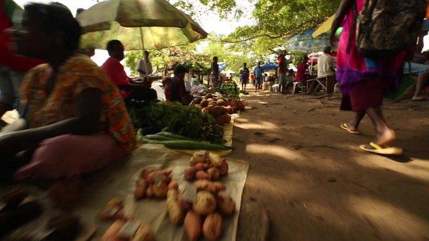 Market in Papua New Guinea