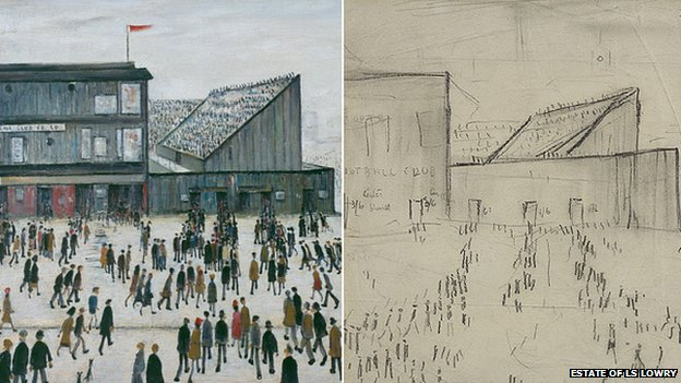 LS Lowry Going to the Match 1953
