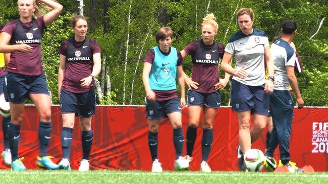 England Women ahead of match v Mexico