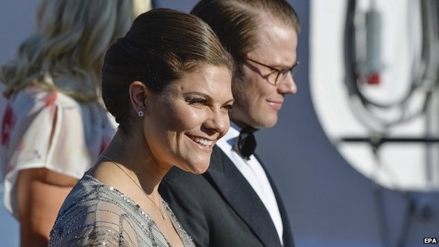 Crown Princess Victoria and Prince Daniel arrive for the pre-wedding party. 12 June 2015