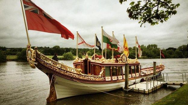 The Queen's Diamond Jubilee barge, Gloriana