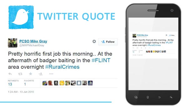 PCSO Mike Gray tweeted about the 'gruesome' find on Saturday morning