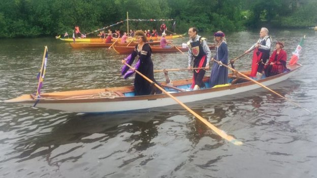 Boats involved in the pageant