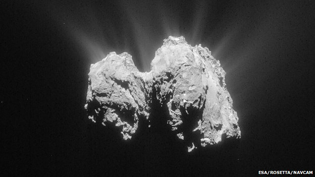 Image of Comet 67P, taken by the Rosetta navigation camera, 3 May 2015