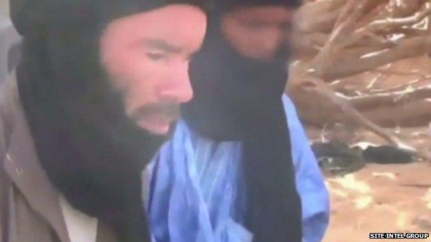 Mokhtar Belmokhtar, filmed in Niger