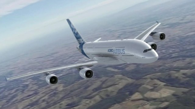 A380 in flight