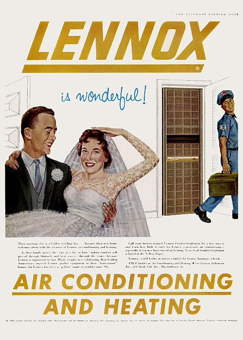 Air conditioning advert 1960