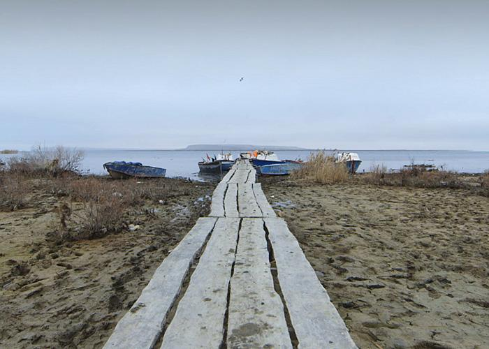 Jetty on the Small Aral Sea
