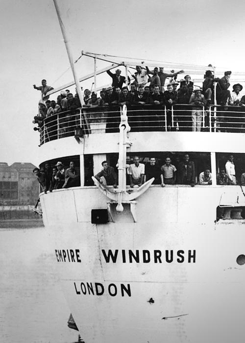 Jamaican emigrants arrive in UK, 1948
