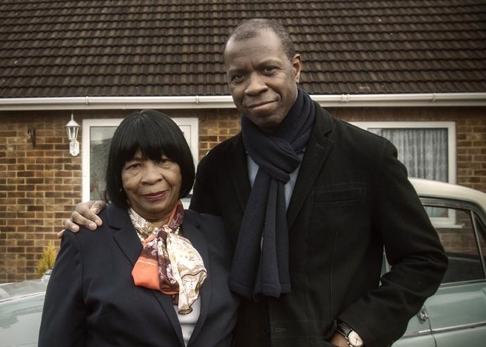 Clive Myrie with his mum, Lynne