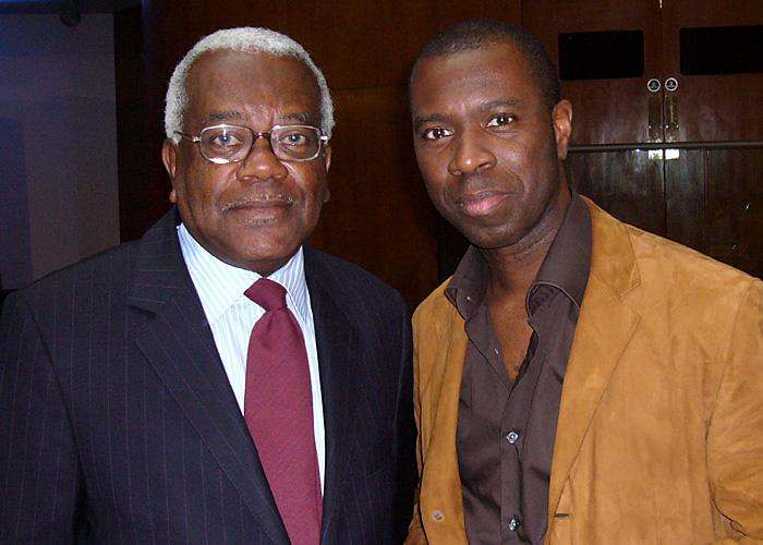 Clive Myrie with Sir Trevor McDonald