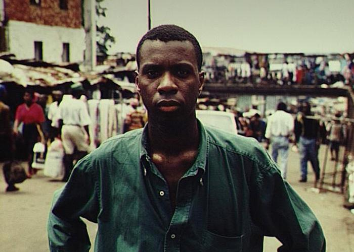 Clive Myrie on assignment in 1995