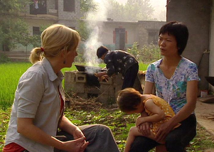 Carrie Gracie with Xiao Zhang, 2006