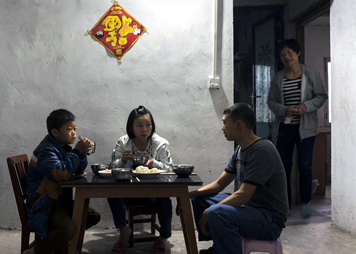 Xiao Zhang's family, 2015