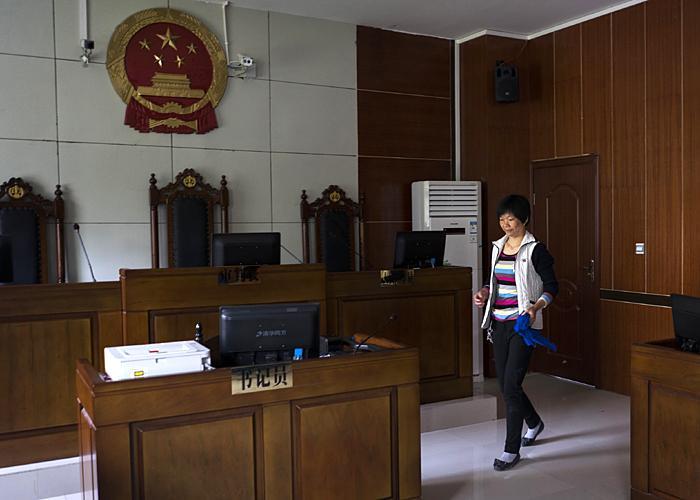 Xiao Zhang at work, 2015