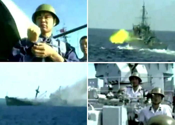 Images from Johnson South Reef battle, 1988