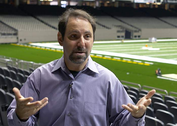 Dave Cohen in the Superdome in 2015