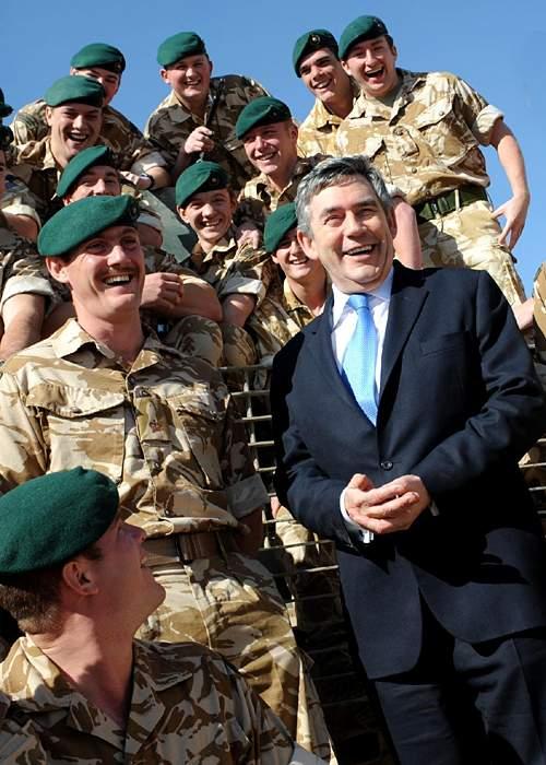 Gordon Brown at Camp Bastion