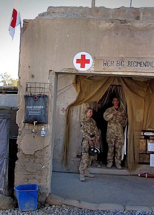 British field hospital at Garmsir, October 2007