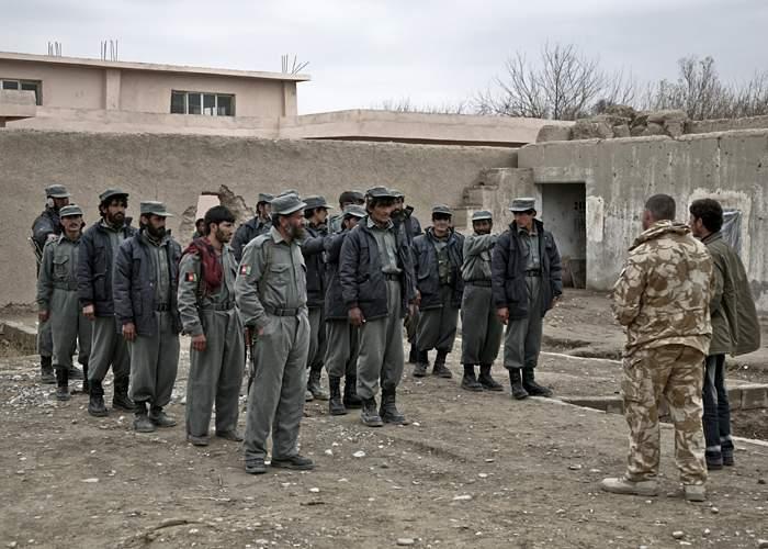 Redrafted Afghan police