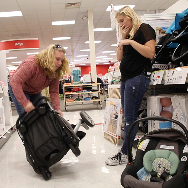 Delaney went with her mother to buy a pram for the baby